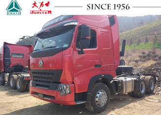 A7 6X4 10 Wheeler HOWO Tractor Truck Euro IV 400L Fuel Tank With 10 Forward Speed