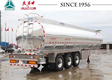 Light Weight Aluminum 45000 Liters Fuel Tanker Trailer With  Bottom Loading