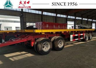 10 Meter 4 Axle Truck Drawbar Trailers , Pull Trailers America Type Mechanical Suspension