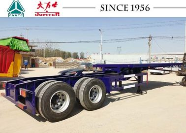 20FT / 40FT 2 Axle Interlink Flatbed Trailer Side Wall Trailer For Zambia