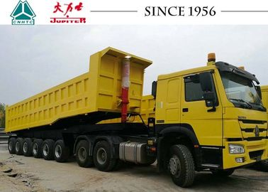 China 100 Tons 6 Axle Tipper Trailer Heavy Duty For Manganese Transport In West Africa factory