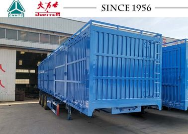 China Grain Trailer Van Closed Box Trailer With Side Tipping For Wheat Transport factory