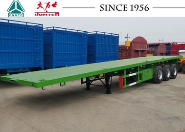 China Carbon Steel Q345B 40 Foot Flatbed Trailer With Germany Type Axle For Zambia factory