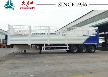 China White Color 40 Feet Fence Cargo Trailer , High Side Wall Trailer With 3 Axle factory