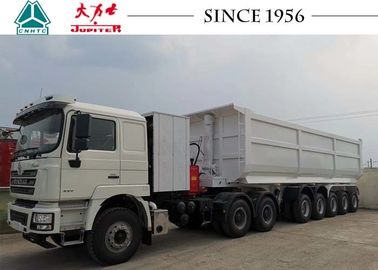 China 60T 5 Axle Heavy Duty Tipper Trailer / Dump Trailer For Mine Transportation factory