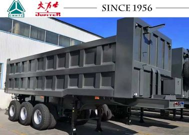 China Blue Color 30CBM Heavy Duty Tipper Trailer To Transport Sand / Stone distributor