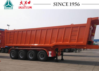 China Square Shape 4 Axle Heavy Duty Tipper Trailer For Transport Mine / Sand / Gravel distributor
