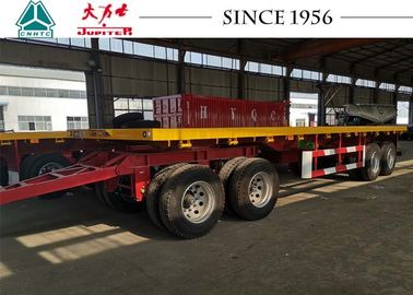 China 10 Meter 4 Axle Truck Drawbar Trailers , Pull Trailers America Type Mechanical Suspension distributor