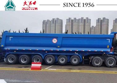 China 70 Tons U Shape 6 Axle Dump Tipper Truck Trailer For Carry Rock / Aggregate distributor