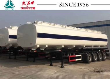 China 4 Axles 50000 Liters Fuel Tank Semi Trailer 50 Tons Carbon Steel Q345B factory