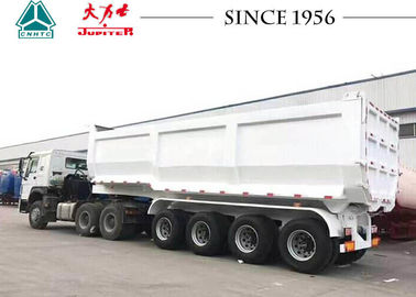 China 35 CBM U Shape Heavy Duty Tipper Trailer 4 Axle 50 Tons For Mining distributor