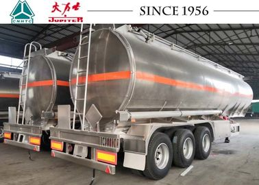 China 40000 Liters Aluminum Fuel Tanker Trailer Tri Axle Jet Gas Tanker Trailer distributor